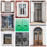 Old wooden doors and windows Royalty Free Stock Image