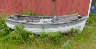 An old wooden dory at yellowknife Royalty Free Stock Image