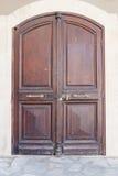 Old wooden double door Stock Photo