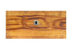 Old wooden drawer on white background - front view Stock Photography