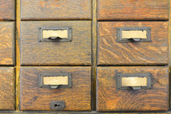 Old wooden drawers Stock Photos