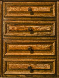 Wooden Drawers Stock Photography
