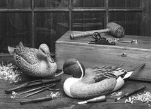 Old Wooden Ducks. Stock Image