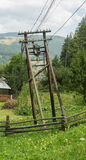 Old wooden electric pole Royalty Free Stock Photography