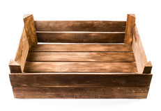 Old wooden empty box Stock Image