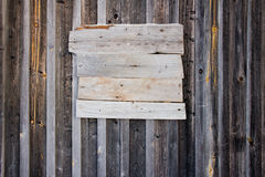 Old wooden empty bulletin board Royalty Free Stock Photo