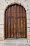 Old wooden entrance door Stock Image