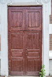 Old wooden entrance door Stock Photography