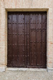 Old wooden entrance door Royalty Free Stock Images