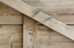 Old wooden facade detail Royalty Free Stock Photo