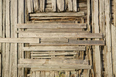 Old wooden facade Royalty Free Stock Photo