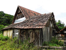 Old wooden farm buildings Royalty Free Stock Image