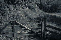 Old wooden farm fence Royalty Free Stock Photography