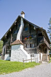 Old wooden farm house. In the swiss countryside Stock Photography