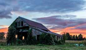 Old Wooden Farm Shed Royalty Free Stock Image