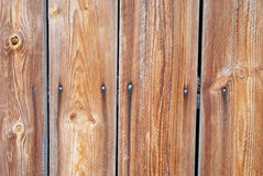 Old wooden fence. Traditional wood fence close up stock photos