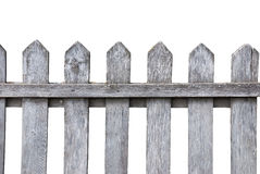Old wooden fence. An old weathered wooden fence isolated on white Stock Image
