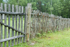 Old wooden fence. In the countryside Royalty Free Stock Image