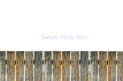 Old wooden fence. On white  background Stock Photos
