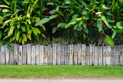Old wooden fence. For background Stock Photo