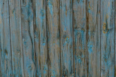 Old wooden fence, background. Old wooden fence as a background, in worn out blue color Royalty Free Stock Photography