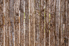 Old wooden fence background. Old brown wooden fence background in harmonic structure Royalty Free Stock Photos