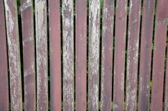 Old wooden fence background. Old brown wooden painted fence background texture Royalty Free Stock Images