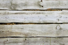 Old wooden fence background hay. Old wooden fence gray color construction background filled with straw and hay Royalty Free Stock Images