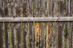 Old wooden fence background. Horizontal Stock Photography