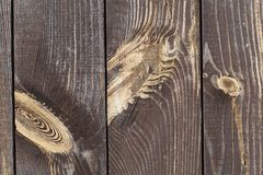 Old wooden fence background. The brown wood texture with natural patterns Royalty Free Stock Photos