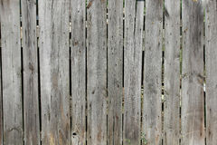 Old wooden fence - background texture. Gray rustic wooden Stock Photography