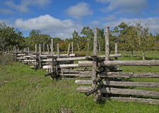 Old wooden Fence in the country Stock Images