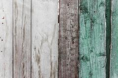 Old wooden fence with cracked paint texture.  Royalty Free Stock Photos