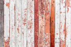 Old wooden fence with cracked paint texture.  Royalty Free Stock Images