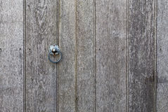Old Wooden Fence Door With Metal Ring Royalty Free Stock Photography
