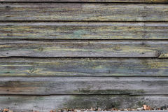 Old wooden fence. Wooden old faded fence home Royalty Free Stock Images