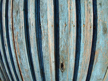 Old wooden fence. Fragment of old wooden fence with wide angle fisheye lens view royalty free stock photography