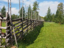 Old wooden fence. Wooden fence at Gammelstad, Norrbotten, Sweden Stock Images