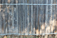 Old wooden fence in garden Stock Images