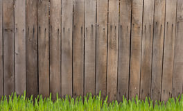 Old wooden fence and grass Stock Photography