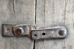 Old wooden fence with iron rivets Royalty Free Stock Photos