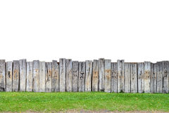 Old Wooden Fence Isolate Royalty Free Stock Images