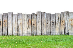 Old wooden fence isolate Royalty Free Stock Photography