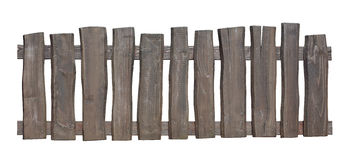 Old wooden fence isolated with clipping path Royalty Free Stock Images