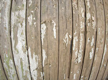 Old wooden fence with peeling off paint Royalty Free Stock Photo