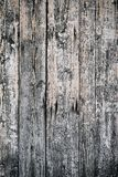 Old wooden fence. And peeling paint Royalty Free Stock Photo