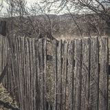 Old wooden fence. With rusty nails, close up Royalty Free Stock Image