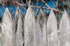 Old wooden fence sharp Stock Photography