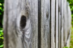 Old wooden fence stretching. royalty free stock photos