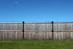 Old wooden fence. Sunny day royalty free stock photos